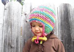 Crochet Pattern! Quick and easy earflap hat. 6 sizes, newborn to adult