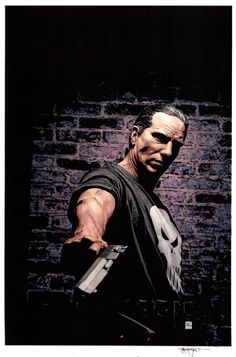 The Punisher Issue 26 Cover by Tim Bradstreet Comic Art Punisher Marvel, Marvel Comics, Daredevil Punisher, John Bernthal, Comic Art, Comic Books, Fitness Gifts, Journalism, Jon Snow