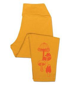 Mustard Mushrooms Organic Crop Leggings by Soul Flower #zulily #zulilyfinds