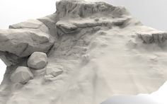 Rock/Terrain Speed sculpt studies, Jared Sobotta on ArtStation at https://www.artstation.com/artwork/XgmbD