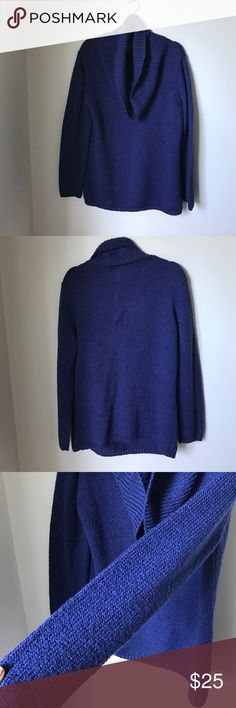 New York & Company Royal Blue Sweater Pre-Loved and great condition. Vibrant blue color. No noticeable snags or tears New York & Company Sweaters Cowl & Turtlenecks