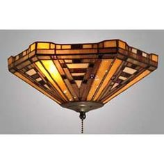 Tiffany Triangle Fan or Ceiling Light