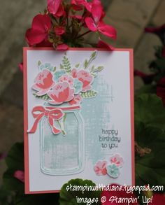 Jar of Love, Everyday Jars, Stampin Up, You've Got this (background)