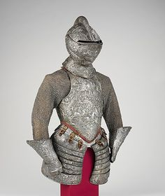 Portions of a Ceremonial Armor                                                                                      Date:                                        ca. 1575–80                                                          Culture:                                        French                                                          Medium:                                        Steel, embossed, with traces of gilding