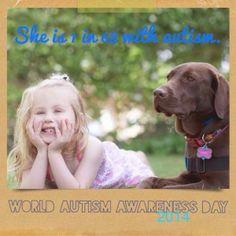 Pawsitive Service Dog Solutions' Hazel and her girl Ellory wish you a wonderful WORLD AUTISM AWARENESS DAY #worldautismawarenessday #autism