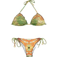 Ellis Beach Wear Brazilian Animal Print Bikini With Rhinestones -... (5,025  THB