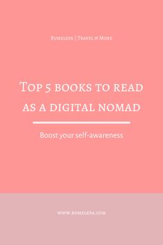 Top 5 must read books to read as a digital nomad to boost your self-awareness and level you up as an entrepreneur Books For Moms, Books To Buy, Read Books, Nomad Book, Jackie Collins, Moving To Germany, Importance Of Reading, Parenting Books, Article Writing