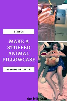 Stuffed Animal Storage Pillow Pattern - Our Daily Craft Easy Sewing Projects, Vinyl Projects, Sewing Tutorials, Mason Jar Crafts, Mason Jar Diy, Crafts To Make And Sell Unique, Bullet Journal For Beginners, Diy Wedding On A Budget, Stuffed Animal Storage