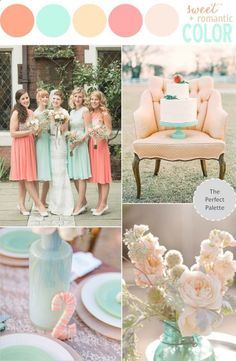 peach and mint wedding ideas | … Story | Shades of Peach, Coral Mint! | ideas for weddings and @ Wedding-Day-Bliss