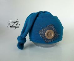 Upcycled Newborn Hat Baby Boy Hat Upcycled Photo by simplycutieful,