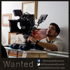 Here is our Director Of Photography, Alex Lerma, in action on set. He had an invaluable impact on the excellent cinematic quality you'll see in Wanted. #shortfilm #indiefilm #adoption #fostercare #filmcrew