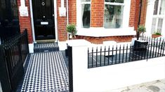 Victorian Mosaic Tile Paths - Anewgarden Decking Paving Design Streatham Clapham Balham Dulwich Chelsea