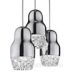 Matrjoschka-Püppchen - verwandelt in eine traumhafte Leuchte aus Aluminium und Glas! Vom italienischen Designerhaus Axo Light. #Design #light #lamps #lighting #interior