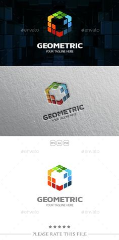 Cube Logo — Photoshop PSD #geometric #hexagonal • Available here → https://graphicriver.net/item/cube-logo/10672022?ref=pxcr