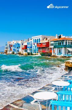 """""""Pequena Veneza"""" na Ilha de Míconos, Grécia"""