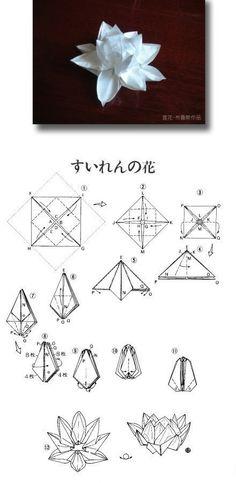 Teach you how to origami lotus DIY steps