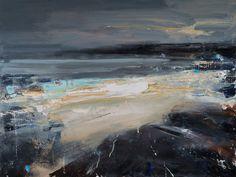 Hannah Woodman is a contemporary British landscape painter. Landscape Artwork, Abstract Landscape Painting, Landscape Drawings, Contemporary Landscape, Abstract Art, Seascape Paintings, Oil Painting Landscapes, Devon, Cosmic