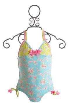 Kate Mack Aqua Girls One Piece Swimsuit $48.00