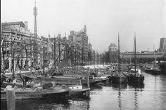 Leuve haven met op de achtergrond de zeevischmarkt 1931