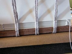 Binding a book on double cords