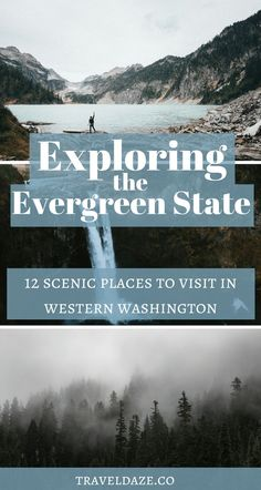Of all 50 United States, Washington is my favorite to explore. The Evergreen state is filled with stunning landscapes, natural beauty, and the cutest little towns. Here are 12 must-visit places in western Washington. Washington state / Exploring the Evergreen State / Western Washington / Seattle / Seattle daytrips / Snoqualmie Falls / North Cascades National Park / Mount Rainier National Park / Olympic National Park / Olympic Peninsula #PNW #TravelWashington #travel