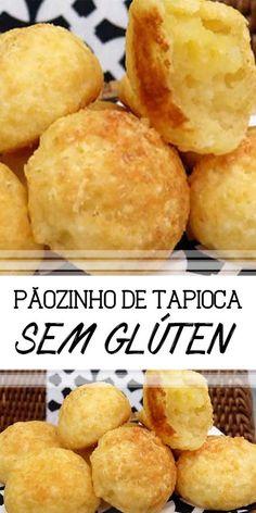 Receita deliciosa de Pãozinho de tapioca (sem glúten) ! Fácil e muito saborosa. Aprenda a fazer esse pão sem farinha de trigo que é uma delícia | #receita #paosemgluten #glutenfree #pao #lanche #comida #facavocemesma #diy