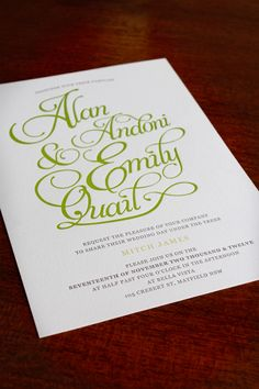 Wedding Stationery by Emily Quail.