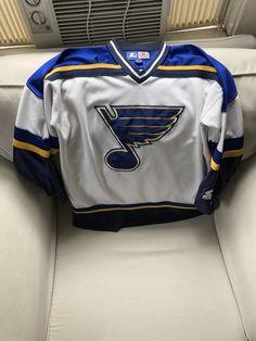 1a6bf8a6b Louis Blues NHL Hockey Jersey Shirt Majestic USA Made M Pit to Pit