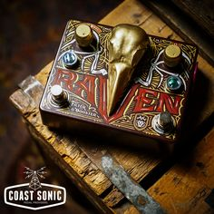LOOKS COUNT... RAWK!!! RAWK!!! – The Troy Van Leeuwen TVL Raven Filter & Boost! The second half of Dr. No's collaboration with Queens of the Stoneage's Troy Van Leeuwen. For $289.99 USD it had better do more than look wicked... it better make ME SOUND WICKED TOO!!! 1 of 2 – Have look if you feel inclined – https://coastsonic.com/…/…/products/dr-no-effects-tvl-raven…