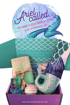 The NEWEST subscription box for mermaid fans! Mermaid Cove Crate from Mermaid Cove Collective!