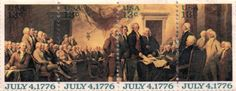 Postage Stamp of The Declaration of Independence