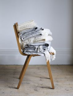 #curateandswoon Handwoven tweed and merino wool throws and blankets