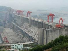 The Three Gorges dam in China holds back so much water it slows the rotation of the earth slightly.
