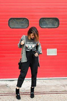 look t-shirt rock veste jacquard L'atelier d'al blog mode lifestyle Paris