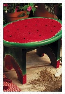 KRYLON PROJECTS IN A CAN - sweet summertime step stool diy