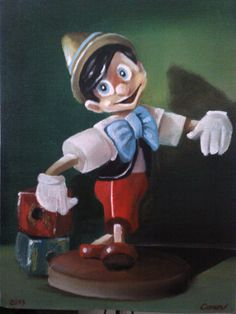 Pinocchio  Oil painting by Canan Can