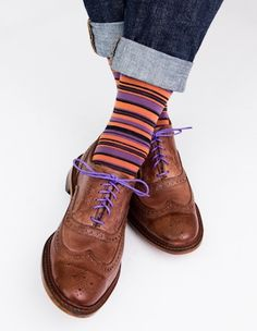 Dapper Classics socks are expertly knitted in North Carolina at a third-generation mill. Every sock is made with style and comfort in mind, guaranteeing that you look and feel your best. Our stripe st