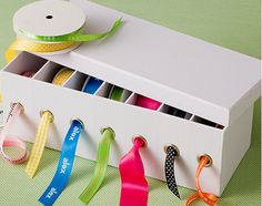 Cleaver way to organize ribbons by @Cassia Marques