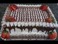 VÍDEO 11 Curso de confeitaria para iniciantes, recheio de abacaxi com coco - YouTube Cake Icing, Buttercream Cake, Eat Cake, Cupcake Cakes, Pretty Cakes, Beautiful Cakes, Pastel Rectangular, Sheet Cakes Decorated, Chocolate Cake Designs