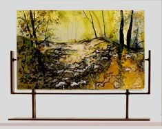 Warmth of Morning, Kiln formed fused glass by Alice Benvie Gebhart