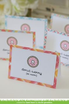 Supplies:  Lawn Fawn Donut Worry Stamp Set (https://oandhdesigns.com/products/lawn-fawn-donut-worry-stamp-set), Lawn Fawn Perfectly Plaid Collection Pack (https://oandhdesigns.com/products/lawn-fawn-perfectly-plaid-collection-pack)