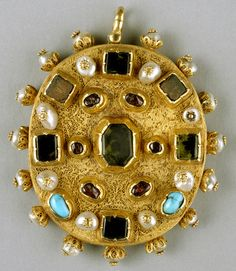 Post-Byzantine (Serres, Greece) Date: mid-16th century Material: Gold, amethyst, emeralds, rubies, pearls, semiprecious stones, niello