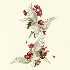 Cranes Tattoo Flash — Yoso Tattoo - Japanese Tattoo - 刺青 宮崎市 - Effektive Bilder, die wir über decorating ideas for the home anbieten Ein Qualitätsbild kann Ih - Japanese Tattoos For Men, Japanese Tattoo Symbols, Traditional Japanese Tattoos, Japanese Tattoo Designs, Japanese Tattoo Art, Japanese Sleeve Tattoos, Mandala Tattoo Design, Dotwork Tattoo Mandala, Japan Tattoo Design