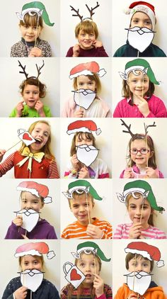 The best DIY projects & DIY ideas and tutorials: sewing, paper craft, DIY. DIY Gifts & Wrap Ideas 2017 / 2018 MollyMoo – crafts for kids and their parents Christmas Photobooth For KIds (nadal) -Read Preschool Christmas, Christmas Crafts For Kids, Christmas Activities, Xmas Crafts, Christmas Projects, Christmas Decorations, Christmas Trends, Noel Christmas, Christmas Photos
