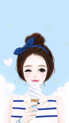 Pictures of cute korean anime wallpaper - Korean Anime, Korean Art, Cute Korean, Korean Illustration, Illustration Girl, Girl Cartoon, Cute Cartoon, Lovely Girl Image, Girly M