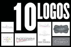 Photography logo bundle by Joanne Marie on @creativemarket