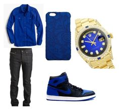 """""""Untitled #7"""" by obey-bebo ❤ liked on Polyvore featuring Paul Frank, Dolce&Gabbana, Naked & Famous, J.Crew, Rolex, men's fashion and menswear"""