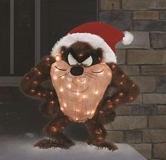 Whimsy 3D SANTA CRUISING IN HIS CAR Lighted Tinsel Christmas Yard Display NEW !