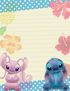 Phone Wallpaper Pastel, Cute Disney Wallpaper, Lilo Stitch, Stitch Doll, Tsum Tsum Wallpaper, Angel Baby Shower, Disney Princess Makeup, Preschool Decor, Free Printable Stationery
