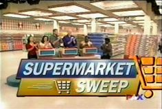 """""""Hey, the next time you're at the checkout counter and you hear the beep *beepbeep*, think of all the fun you can have on... SUPERMARKET SWEEP!"""""""
